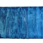 Blue Landscape, Etching on paper, 10.5 x 30 cm (plate size), 2009