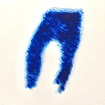 Long johns(225)#1, Carborundum monoprint on paper, 25 x 20.5 cm, 2018