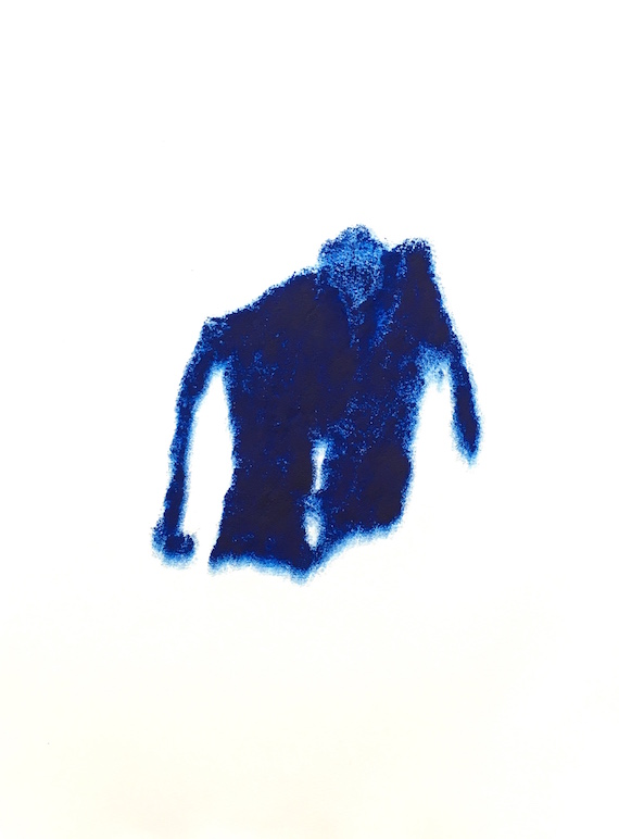 Shirts(173)#1, Carborundum monoprint on paper, 38 x 28.5 cm, 2018