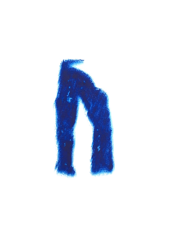 Trousers(209)#1, Carborundum monoprint on paper, 38 x 28.5 cm, 2018
