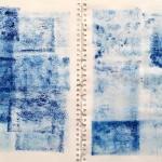 Photo album I, Carborundum monoprint on paper, 42 x 62.5 cm, 2019