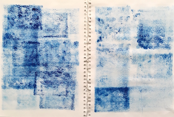 Photo album I, Carborundum monoprint on paper, 42 x 62.5 cm, 2019