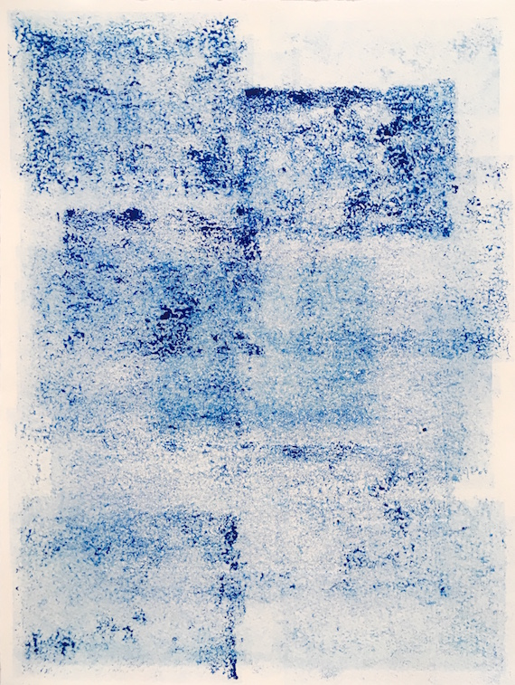 Photo album II, Carborundum monoprint on paper, 38 x 28.5 cm, 2019