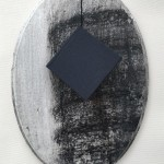 Black frame with artist book, collagraph and hand paint on wood(frame), 18.3 x 13 cm, 2019